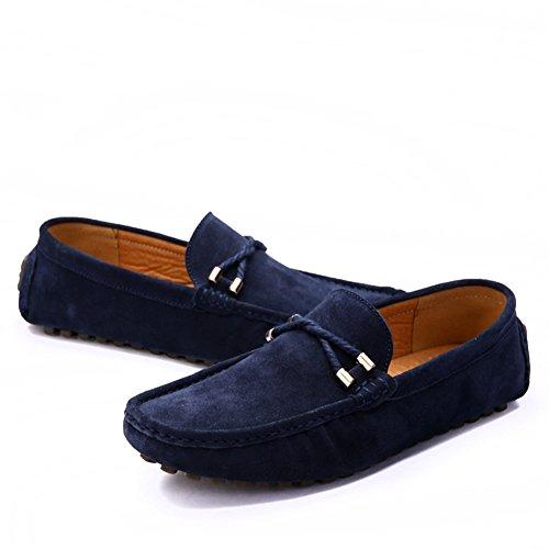 Aller Tour Hommes Slip Sur Mocassins De Conduite Mocassins Chaussures 1 Bleu Foncé