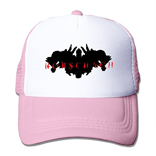 Pink RORSCHACH Hardcore Punk Powerviolence Cap Black Strapback Hats (Rorschach Hat)