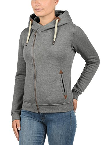 DESIRES Vicky Zip-Hood - Sudadera con cremallera para Mujer Grey Melange (8236)