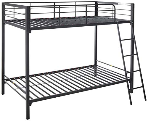 - Zinus Patti Easy Assembly Quick Lock Twin over Twin Metal Bunk Bed / Quick to Assemble in Under an Hour
