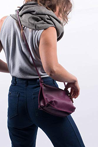 BEA all leather crossbody handbag/purse