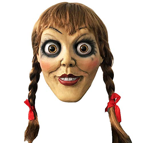 Annabelle Mask Halloween Horror Cosplay Fancy Dress Costume Outfit Adults ()