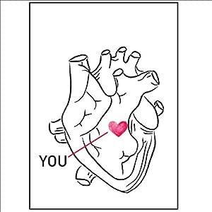 Ruofengpuzi Adesivo Tatuaggioposición Interna Corazón Tatuaje ...