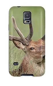New Tpu Hard Case Premium Galaxy S5 Skin Case Cover(reindeer)