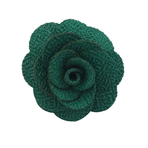 Sunny Home Men's Lapel Flower Handmade Boutonniere Pin for Suit (Blackish (Green Lapel Pins)