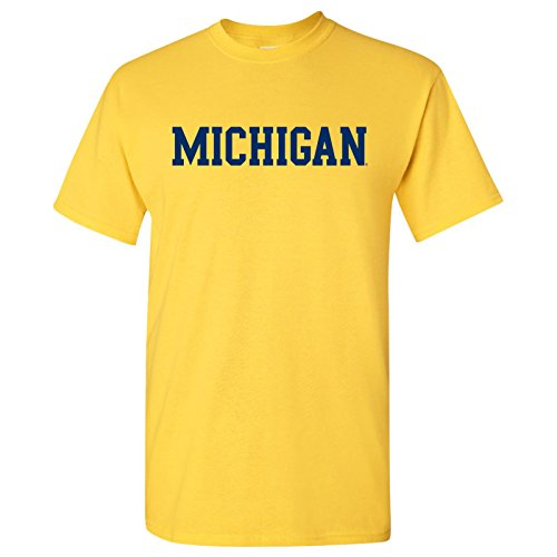 Michigan Wolverines Basic Block T-Shirt - Small - Maize