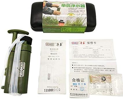Libertroy Campamento portátil Mini Purificador de Agua portátil ...