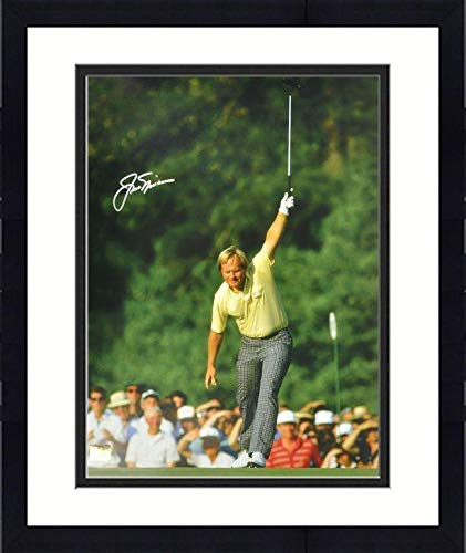 Framed Jack Nicklaus Autographed 16'' x 20'' 1986 Masters Victory Silver Ink Photograph - Fanatics Authentic Certified