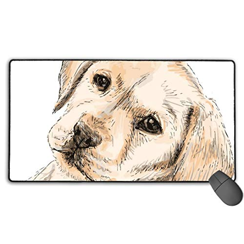 (GGlooking Mousemat Labrador Dog Mouse Pad Gaming Mat Computer Mousepad Large Non-Slip Keyboard Desk Accessories,Office & School Supplies)