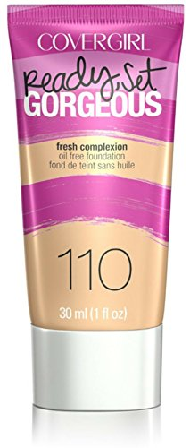 - CoverGirl Ready, Set Gorgeous Liquid Makeup Foundation, Creamy Natural [110] 1 oz (Pack of 3)
