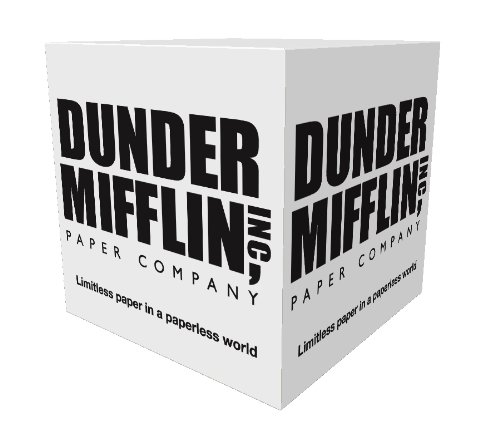 "Dunder Mifflin (The Office) Sticky Note Cube, 2.75"" x 2.75"", 800 sticky pages"
