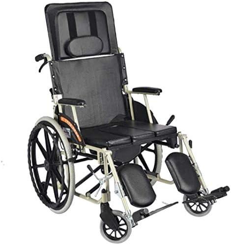 歩行器介護 座れる高齢者 高齢者パワートロリーキャリング車椅子ポータブルトラベルチェアのフルリクライニングライト折りたたみ車椅子アルミ合金 移動・歩行支援歩行器