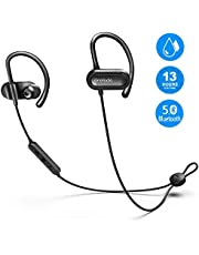 OneAudio Bluetooth Headphones In Ear, Sports Earphones V5.0/13 Hours Playtime/Microphone CVC Noise Reduction / IPX4 Waterproof, Wireless Headset for Running Jogging Workout
