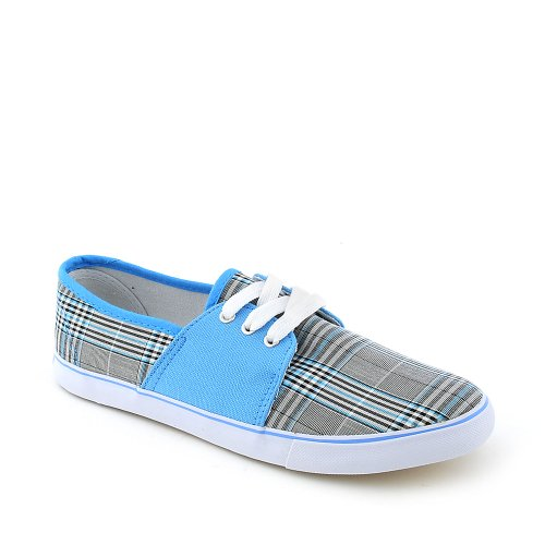 Shiekh Kvinners Confy-03 Uformell Sneaker Blå / Grå Rutete