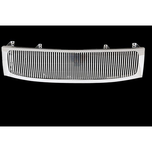 Paramount Restyling 42-0354 Full Replacement Packaged Billet Aluminum Grille with 8 mm Vertical Bars