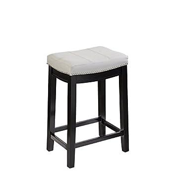 Terrific Amazon Com Linon Claridge 24 Upholstered Counter Stool In Andrewgaddart Wooden Chair Designs For Living Room Andrewgaddartcom