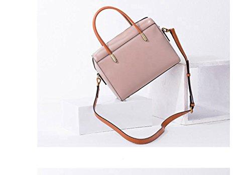 Versión coreana de los nuevos bolsos de mano, bolso del partido de cuero pequeña, bolso de cuero, bolsa de mensajero, bolsas de damas Pink