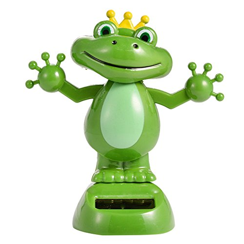 zehui Solar Powered Dancing Animal Decoration Auto Furnishing Articles Cartoon Doll Ornaments Cute Frog