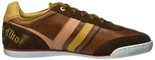 Pantofola dOro Vasto Uomo Low, Scarpe da Ginnastica Uomo Braun (.Jcu)