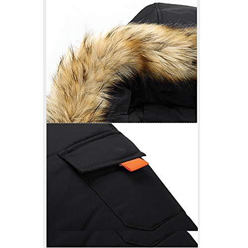 Doudoune Pull Noir D'hiver Capuche Avec Pardessus Dcontract Veste IwXtt0