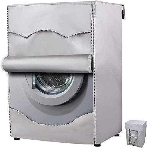 洗濯機カバー 厚い シルバー 防水 埃 防日焼け ベルクロ式ファスナーとマジックテープ開閉高耐久生地