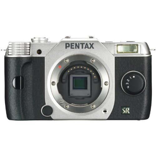Pentax Q7 12.4MP Mirrorless Digital Camera with 3-Inch LCD - Body Only (Silver) (OLD MODEL)