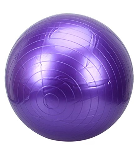 Yoga Ball Fitness Training and Physical Therapy Best Stability Ball for Full Body Workout, CrossFit, Yoga, Pilates - Sredmoon Products (purple)