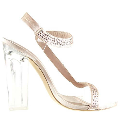Zapatos blancos sexy Angkorly para mujer L531oZme