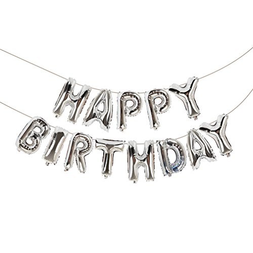 Happy Birthday Balloons, Vocktops Foil Balloons Letters Balloons Mylar Balloons for Birthday Party Decoration