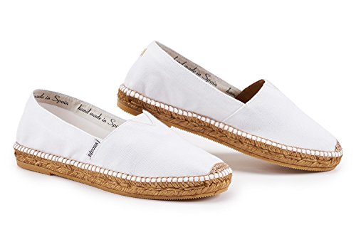 VISCATA Women's Barceloneta Authentic & Original Spanish Made Espadrille Flats White w1MzNx