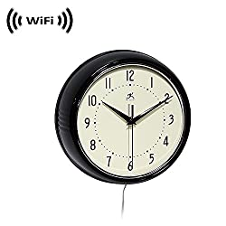 Wireless Spy Camera with WiFi Digital IP Signal, Recording & Remote Internet Access (Camera Hidden in a Wall Clock-Black)