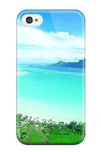 New Premium Flip Case Cover Bora Bora Skin Case For Iphone 4/4s