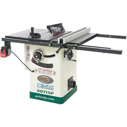Find Discount Grizzly G0715P Polar Bear Series Hybrid Table Saw with Riving Knife, 10-Inch