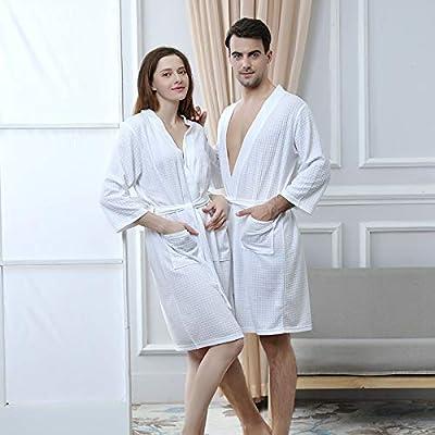 Gelaiken Women Socks Bathrobes Beauty Salon Hotel Pajamas (Color : White, Size : XXL) Girls Knee-high Socks