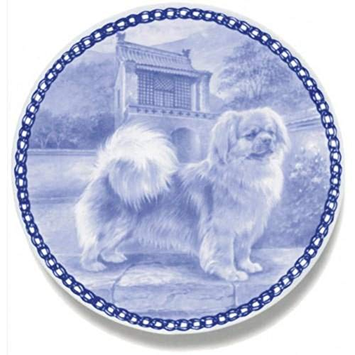 Tibetan Spaniel - Dog Plate made in Denmark from the finest European Porcelain. Premium Quality and Design from Lekven. Perfect Gift For all Dog Lovers. Size - 7.61 inches.