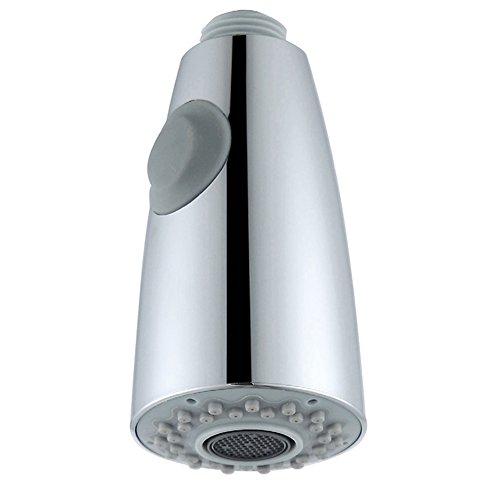 Kitchen Faucet Head, Angle Simple Kitchen Tap Sprayer Head Sink Faucet Sprayer Head Nozzle Replacement Part Pull Down Faucet Hose Sprayer Head Nozzle Spout 1/2-inch IPS, Chrome (Assembly Spout Replacement)