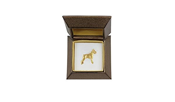 Boxer dog Brooch or Lapel Pin Stud Back Fashion Jewellery Silver Plated
