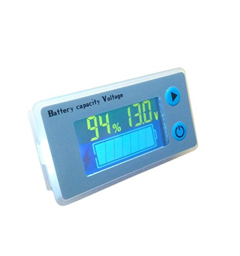 12V LCD Lead Acid Battery Capacity Meter Voltmeter Temperature Display Battery Fuel Gauge Indicator Voltage Monitor ()