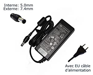 "Adaptador de corriente AC para AC Adapter for HP Pavilion DV3 dv3t dv3z DM4 DV4 DV4T DV5 DV5T dv5tse DV6 DV6Z DV7; dv3500 DV3500T dv3510nr; 463552 – 003 463958 – 001 PPP009L PA-1900 – 08H2 384020 – 001 PPP012L-S; ""Laptop Power"" Supply Cord Notebook Battery Charger Plug cargador portátil, adaptador, alimentación ""Laptop Power (TM) de marca (con garantía 12 meses y cable de alimentación europeo)"