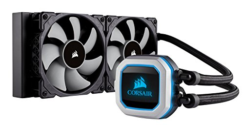 CORSAIR HYDRO Series H100i PRO RGB AIO Liquid CPU Cooler, 240mm, Dual ML120 PWM Fans, Intel 115x/2066, AMD AM4 (Best Cpu Coolers For I7 7700k)