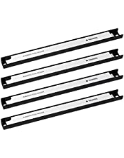 Navaris 4 x magnetisk verktygshållare list – ca 30 cm lång med monteringsmaterial – vägg magnetlist set för verkstad – magnet verktygshållare