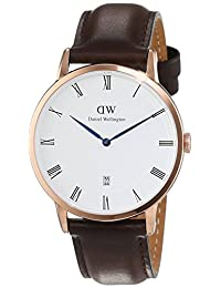 Daniel Wellington Men's Dapper Bristol 1103DW Rose Gold Leather Quartz Watch