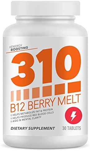 310 B12 Sublingual Vitamin | Fast Dissolving Tablets for Quicker Absorption and Rapid Delivery | Helps Produce Red Blood Cells | Helps with Mental Clarity and Acuity