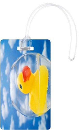 Rikki Knight Rubber Duck-Plastic Bath Toy Flexi Luggage Tags, White