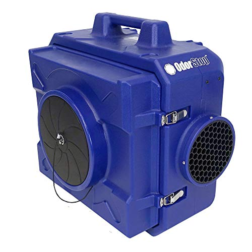 OdorStop OS500 - Heavy Duty HEPA Air Scrubber, 250-500CFM, 1/3 HP, GFCI Outlet, 25