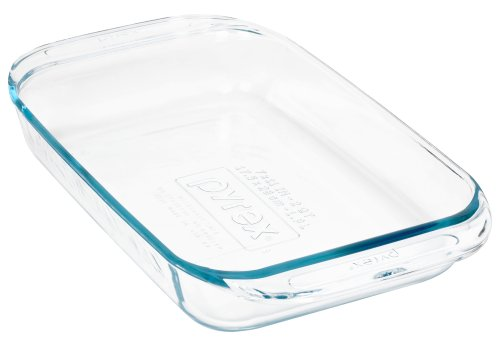 Pyrex Grip-Rite 2-Quart Oblong Baking Dish, Clear
