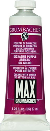 Grumbacher Max Water Miscible Oil Paint, 37ml/1.25 oz, Dioxazine Purple