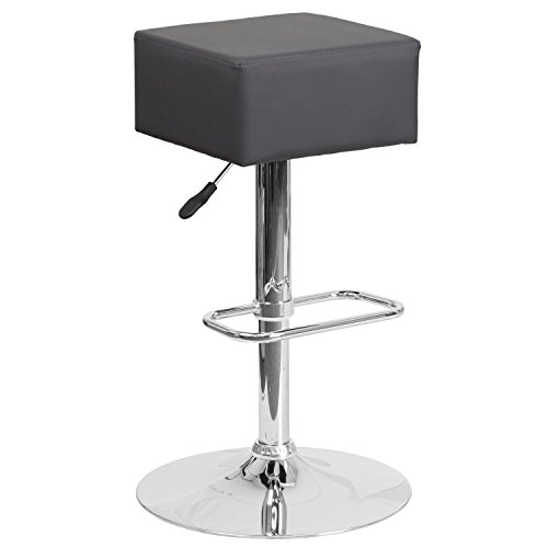 Height Swivel Stool Express Adjustable (Flash Furniture Contemporary Gray Vinyl Adjustable Height Barstool with Chrome Base)