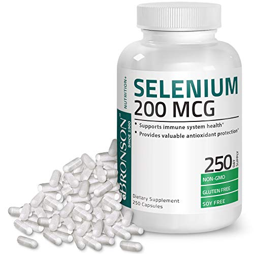 (Selenium 200 Mcg for Thyroid, Prostate and Heart Health - Selenium Amino Acid Complex - Essential Trace Mineral with Superior Absorption, Non GMO, Gluten Free, Soy Free, 250 Capsules)