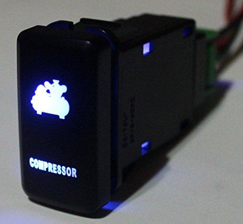 - Bandc 12v OEM Custom Compressor Push Switch Blue Led Light for Toyota Prado Hilux Landcruiser Fj Cruiser